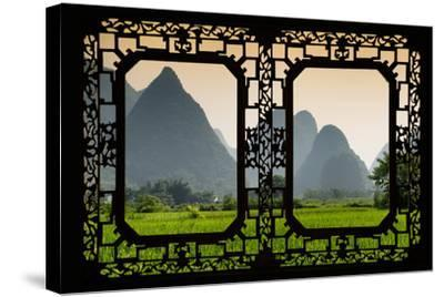 China 10MKm2 Collection - Asian Window - Karst Moutains in Yangshuo-Philippe Hugonnard-Stretched Canvas Print