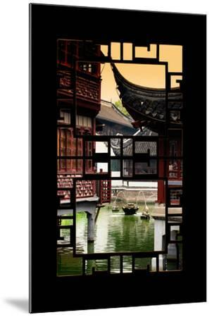 China 10MKm2 Collection - Asian Window - Traditional Architecture in Yuyuan Garden - Shanghai-Philippe Hugonnard-Mounted Photographic Print