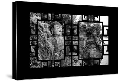 China 10MKm2 Collection - Asian Window - Giant Buddha of Leshan-Philippe Hugonnard-Stretched Canvas Print