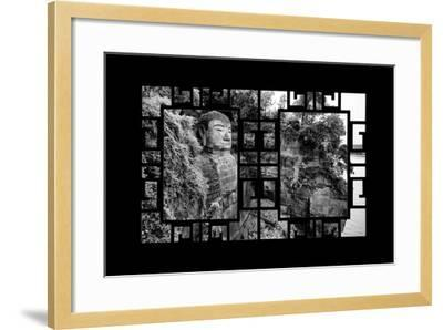 China 10MKm2 Collection - Asian Window - Giant Buddha of Leshan-Philippe Hugonnard-Framed Photographic Print