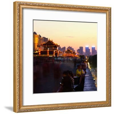 China 10MKm2 Collection - City Night Xi'an-Philippe Hugonnard-Framed Photographic Print