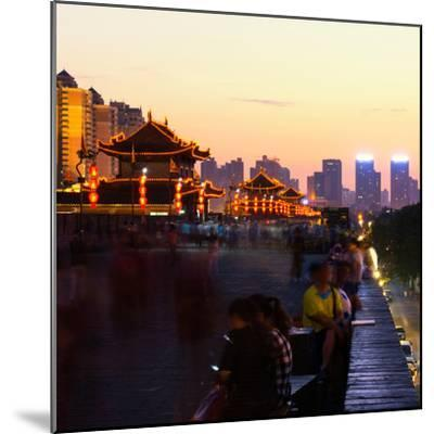China 10MKm2 Collection - City Night Xi'an-Philippe Hugonnard-Mounted Photographic Print