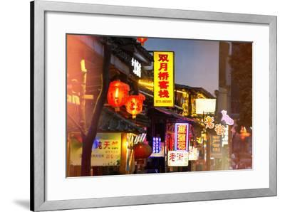 China 10MKm2 Collection - Chinese Signs Night-Philippe Hugonnard-Framed Photographic Print