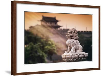 China 10MKm2 Collection - Instants Of Series - Guardian of the Temple-Philippe Hugonnard-Framed Photographic Print