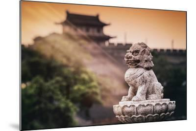 China 10MKm2 Collection - Instants Of Series - Guardian of the Temple-Philippe Hugonnard-Mounted Photographic Print