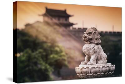 China 10MKm2 Collection - Instants Of Series - Guardian of the Temple-Philippe Hugonnard-Stretched Canvas Print