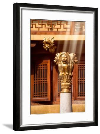China 10MKm2 Collection - Instants Of Series - Gold Lions-Philippe Hugonnard-Framed Photographic Print