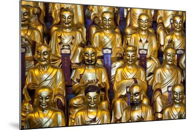 China 10MKm2 Collection - Gold Buddhist Statues in Longhua Temple-Philippe Hugonnard-Mounted Photographic Print