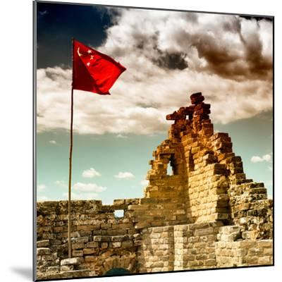 China 10MKm2 Collection - Great Wall with the Chinise Flag-Philippe Hugonnard-Mounted Photographic Print