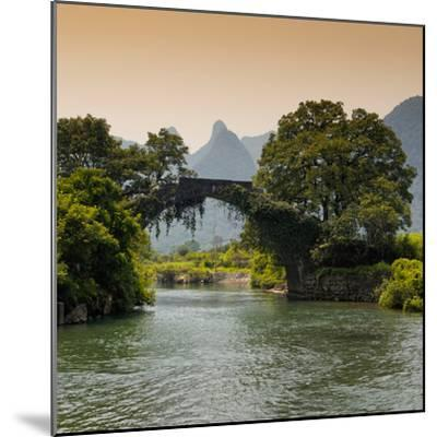 China 10MKm2 Collection - Guilin Yangshuo Bridge-Philippe Hugonnard-Mounted Photographic Print