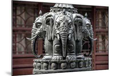 China 10MKm2 Collection - Detail Buddhist Temple - Elephant Statue-Philippe Hugonnard-Mounted Photographic Print