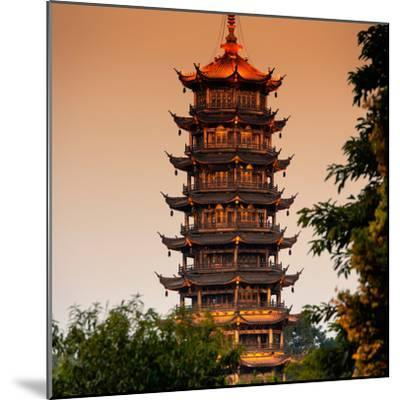 China 10MKm2 Collection - Pagoda at dusk-Philippe Hugonnard-Mounted Photographic Print