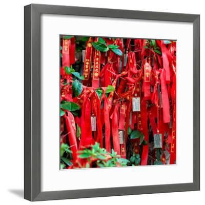 China 10MKm2 Collection - Prayer Ribbons - Buddha Temple-Philippe Hugonnard-Framed Photographic Print