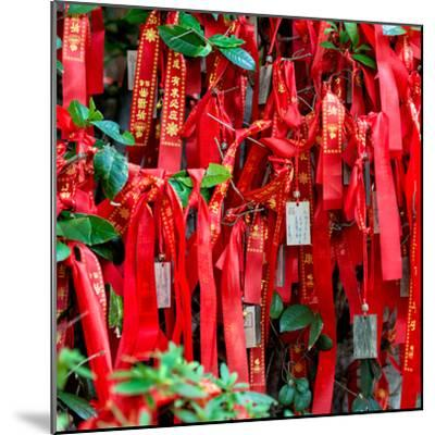China 10MKm2 Collection - Prayer Ribbons - Buddha Temple-Philippe Hugonnard-Mounted Photographic Print