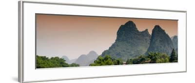 China 10MKm2 Collection - Karst Mountains at sunset - Yangshuo-Philippe Hugonnard-Framed Photographic Print
