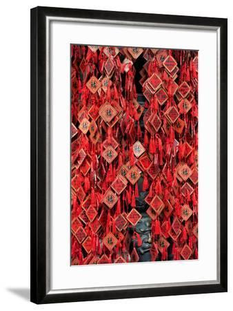 China 10MKm2 Collection - Prayer offering at a Temple-Philippe Hugonnard-Framed Photographic Print