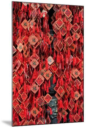 China 10MKm2 Collection - Prayer offering at a Temple-Philippe Hugonnard-Mounted Photographic Print
