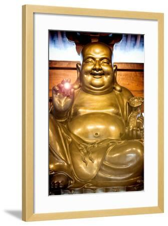 China 10MKm2 Collection - Instants Of Series - Gold Buddha-Philippe Hugonnard-Framed Photographic Print