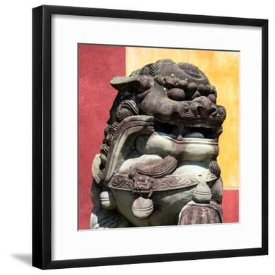 China 10MKm2 Collection - Guardian of the Temple-Philippe Hugonnard-Framed Photographic Print
