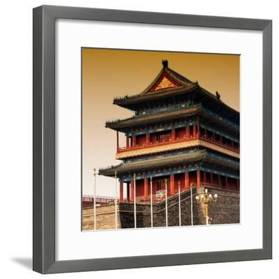 China 10MKm2 Collection - Qianmen Temple-Philippe Hugonnard-Framed Photographic Print
