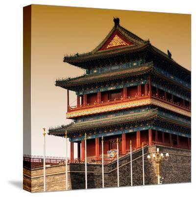 China 10MKm2 Collection - Qianmen Temple-Philippe Hugonnard-Stretched Canvas Print