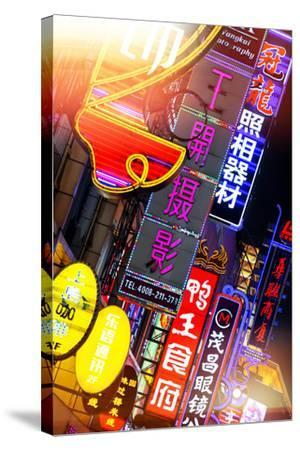 China 10MKm2 Collection - Neon Signs in Nanjing Lu - Shanghai-Philippe Hugonnard-Stretched Canvas Print