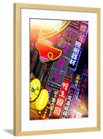 China 10MKm2 Collection - Neon Signs in Nanjing Lu - Shanghai-Philippe Hugonnard-Framed Photographic Print