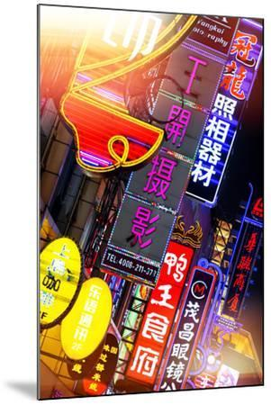 China 10MKm2 Collection - Neon Signs in Nanjing Lu - Shanghai-Philippe Hugonnard-Mounted Photographic Print