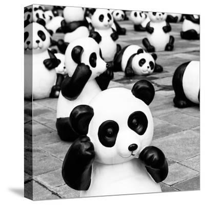 China 10MKm2 Collection - Psychedelic Pandas-Philippe Hugonnard-Stretched Canvas Print