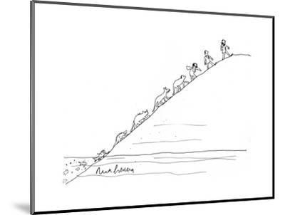 Evolution - Cartoon-Mort Gerberg-Mounted Premium Giclee Print