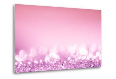 Pink Bokeh Circles Background.-Gamjai-Metal Print