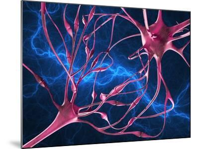 Nerve Synapses, Artwork-Laguna Design-Mounted Photographic Print