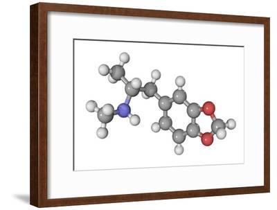 MDMA Drug Molecule-Laguna Design-Framed Photographic Print