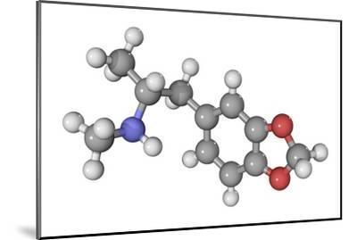 MDMA Drug Molecule-Laguna Design-Mounted Photographic Print
