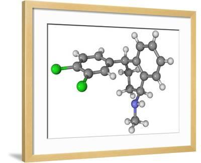 Zoloft Antidepressant Drug Molecule-Laguna Design-Framed Photographic Print
