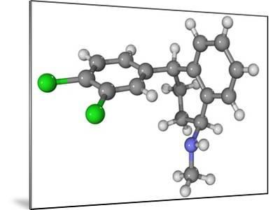Zoloft Antidepressant Drug Molecule-Laguna Design-Mounted Photographic Print