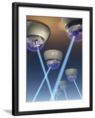 Surveillance Cameras, Computer Artwork-Laguna Design-Framed Photographic Print
