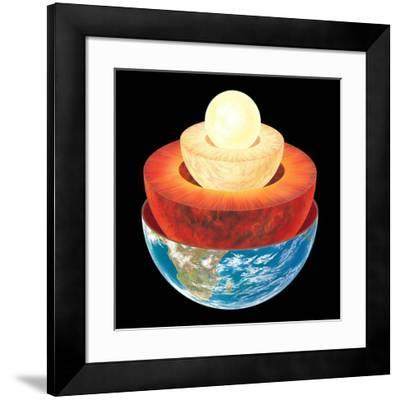 Earth Layers, Artwork-Gary Gastrolab-Framed Photographic Print