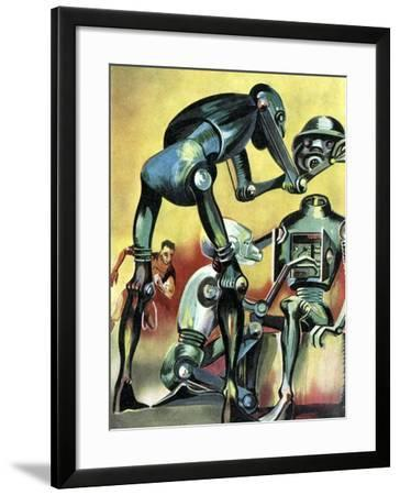 Robot Science-fiction Artwork-CCI Archives-Framed Photographic Print