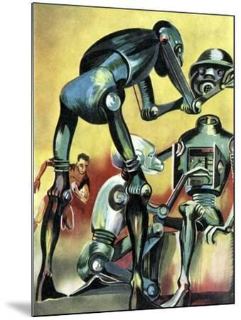 Robot Science-fiction Artwork-CCI Archives-Mounted Photographic Print