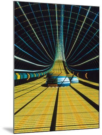 Interior of a Giant Farm Spaceship.-Julian Baum-Mounted Photographic Print