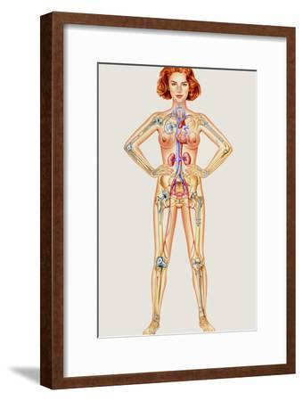 Prosthetic Woman: Artwork of Artificial Implants-John Bavosi-Framed Photographic Print