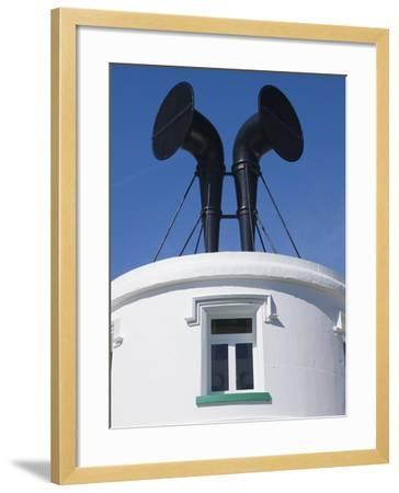 Fog Horns on Lighthouse-Adrian Bicker-Framed Photographic Print