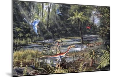 Cretaceous Life, Artwork-Richard Bizley-Mounted Photographic Print