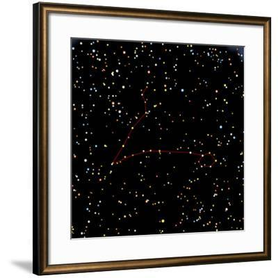 Artwork of the Constellation of Pisces-Julian Baum-Framed Photographic Print