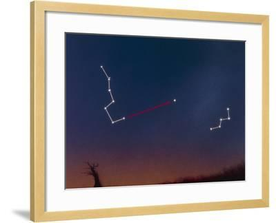 Artwork Showing How To Locate the Pole Star-Julian Baum-Framed Photographic Print