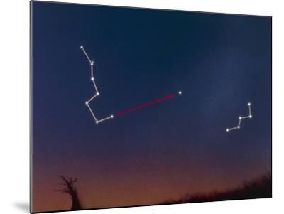 Artwork Showing How To Locate the Pole Star-Julian Baum-Mounted Photographic Print