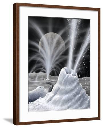 Ice Volcanoes on Charon, Artwork-Richard Bizley-Framed Photographic Print