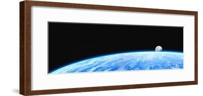 Earth And Moon-Chris Butler-Framed Photographic Print