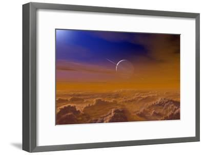 Saturn From the Surface of Titan-Chris Butler-Framed Photographic Print